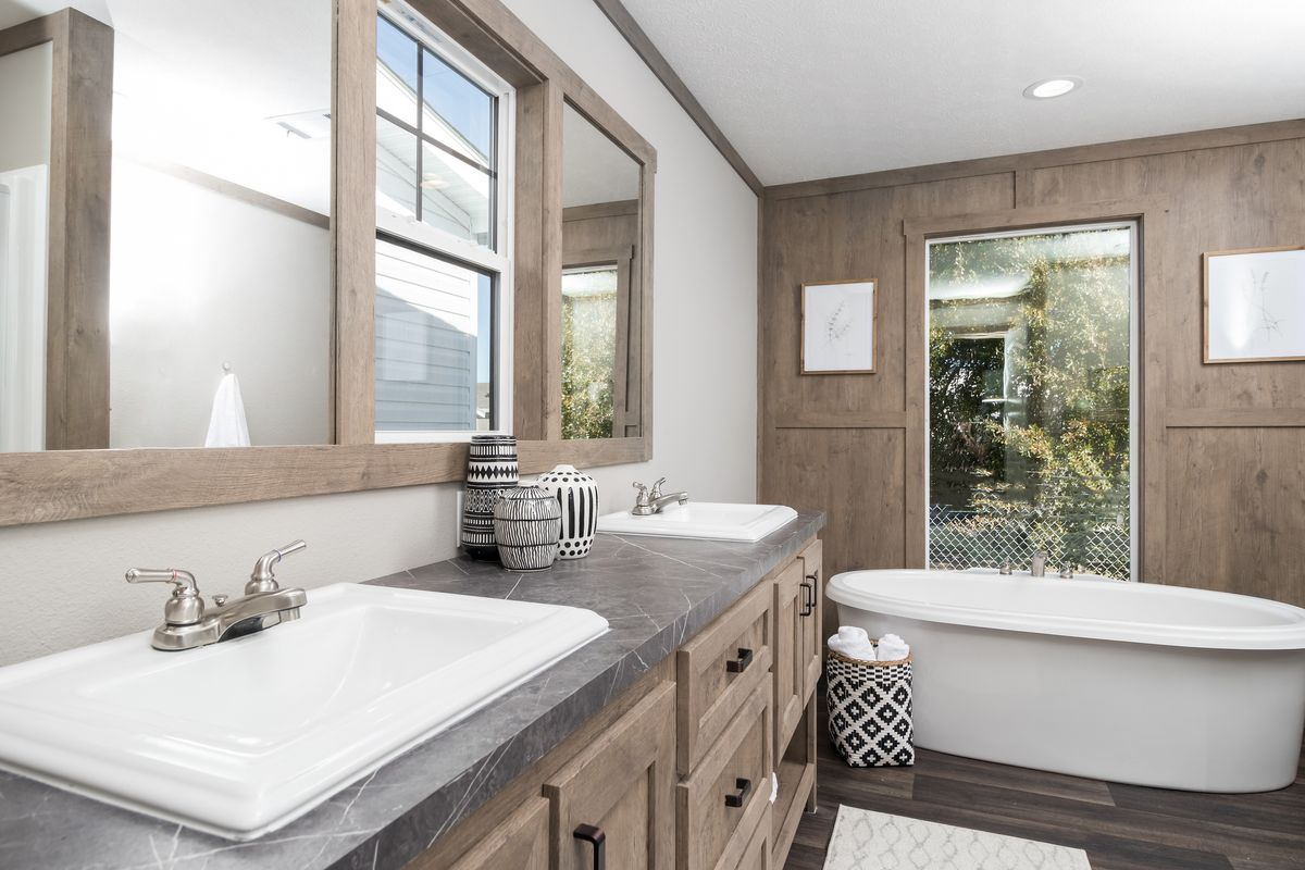 The ISABELLA Master Bathroom. This Manufactured Mobile Home features 3 bedrooms and 2 baths.