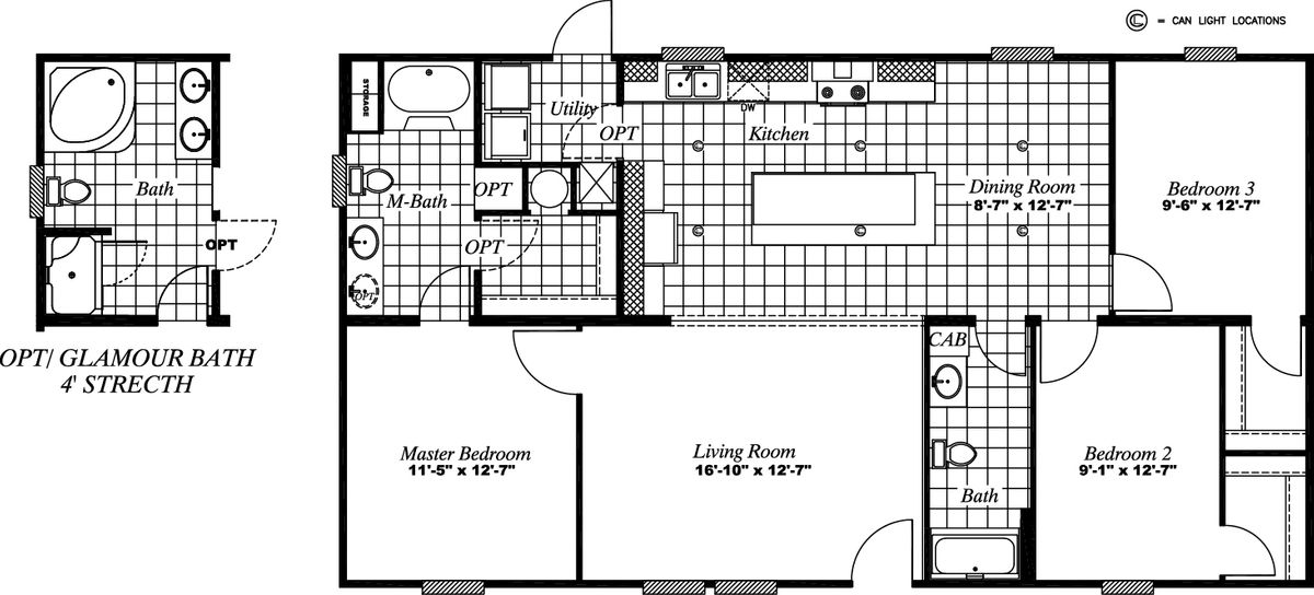 46BCN28483AH Floor Plan